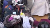 Baby boy found alive after 35 hours under rubble of collapsed building in Russia