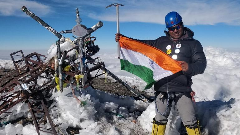 Mountaineer world record, mountain, volcano, scaling, summit, satyarup siddhanta