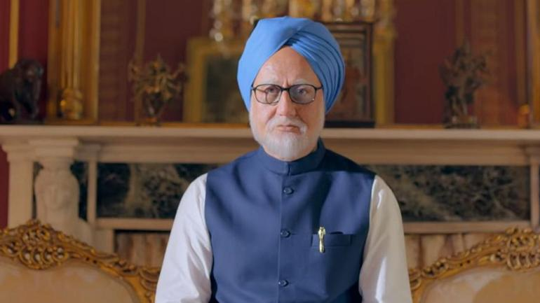 Anupam Kher in a still from The Accidental Prime Minister