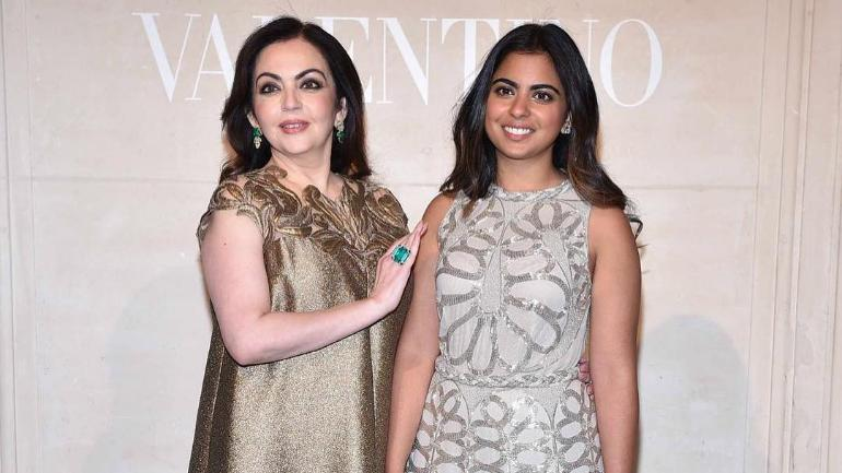 Nita Ambani with daughter Isha Ambani