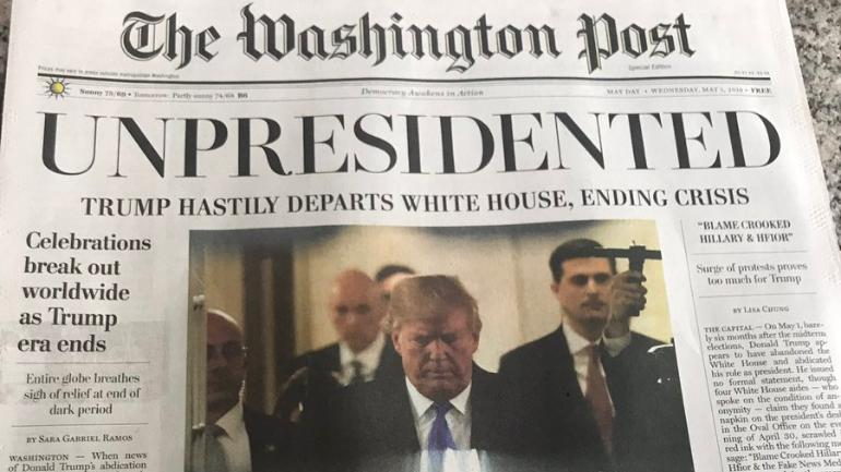Fake Print Editions of Washington Post Distributed in Washington, DC