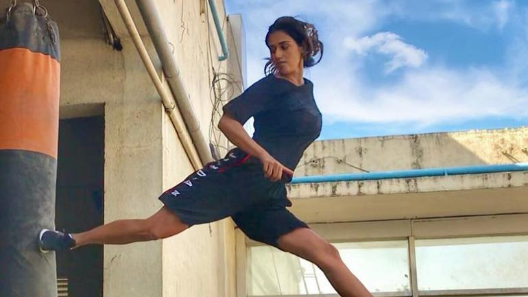 Disha Patani nailing backflip not once, but thrice in