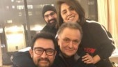 Aamir Khan meets Rishi Kapoor in New York. Neetu Kapoor calls him a true superstar