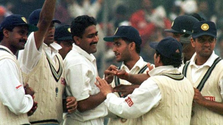 Anil Kumble took all 10 wickets of the innings against Pakistan on February 7, 1999