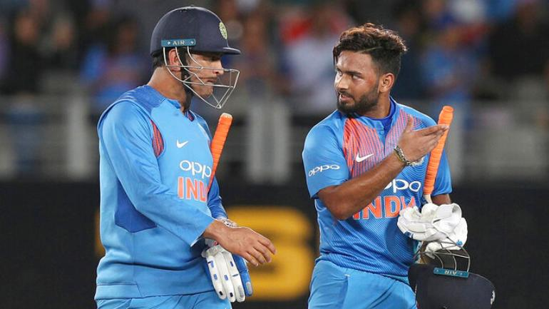 Image result for mahendra singh dhoni and rishabh pant