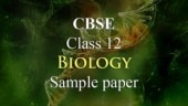 CBSE Class 12 Biology sample paper 2019 with solutions: Check now