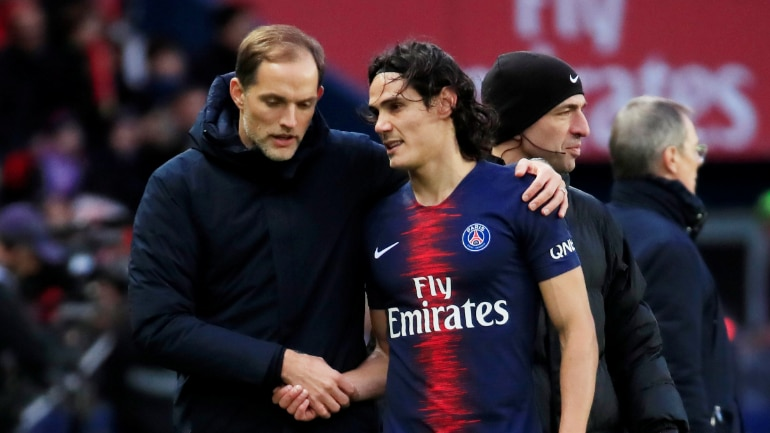 PSG will be without Edinson Cavani and Neymar for their Champions League Round of 16 1st leg clash at Manchester United on Tuesday (Reuters Photo)
