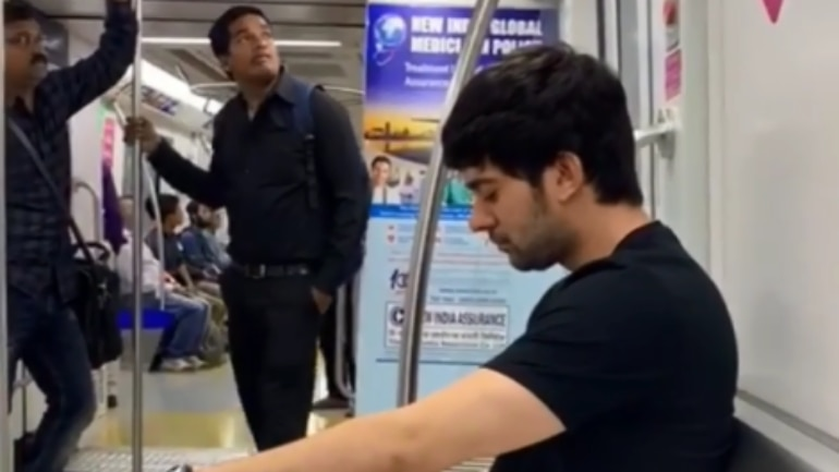The video that shows Karan Deol travelling in a metro has gone viral