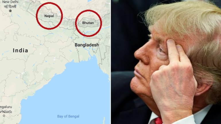 Donald Trump thought Nepal and Bhutan were in India. Called them Nipple and Button