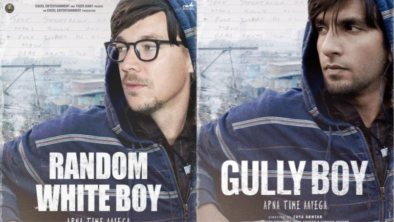 Diplo morphs his face on Gully Boy poster Photo: Twitter