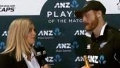 Martin Guptill interviewed by wife after match-winning hundred vs Bangladesh
