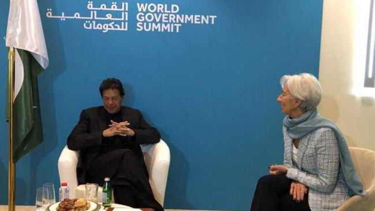 IMF stands ready to support Pak, says Lagarde after meeting Imran in Dubai