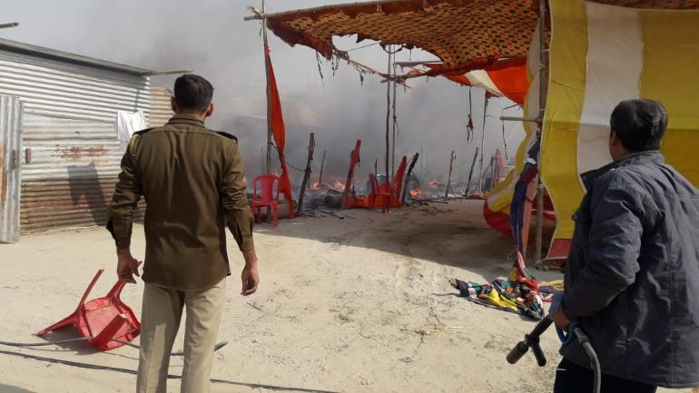 Three tents were gutted in the fire. (File photo: Representational image)