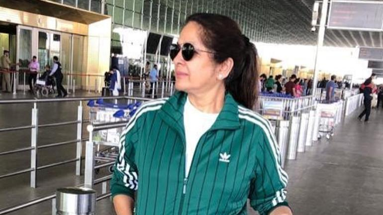 Neena Gupta at the airport Photo: Instagram/Neena Gupta