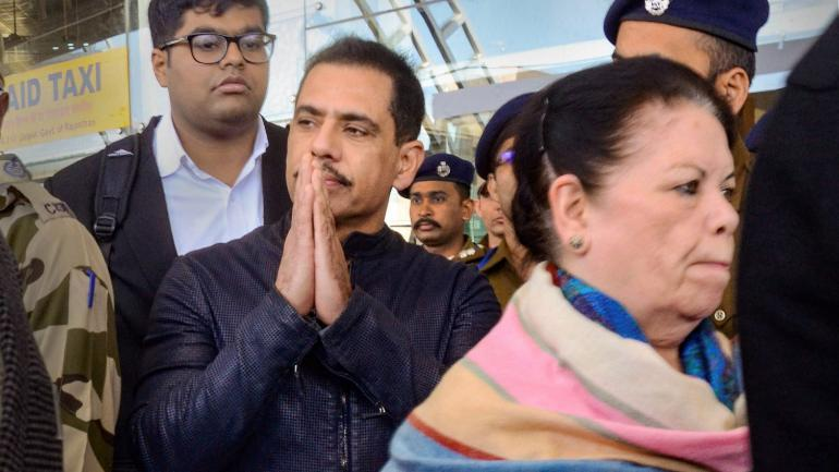 Robert Vadra and his mother arrived in Jaipur on Monday. (Photo: PTI)