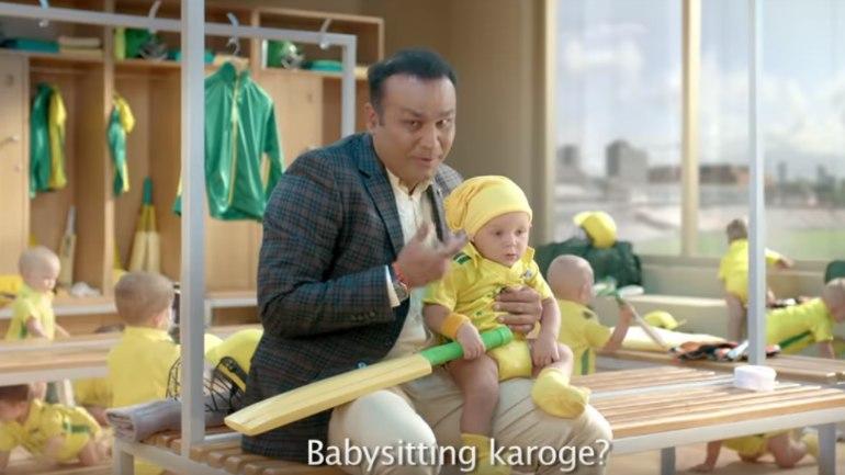 Virender Sehwag babysitting ad, India vs Australia