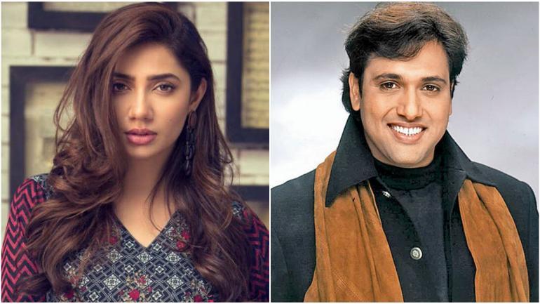 Mahira Khan (L) and Govinda