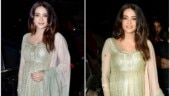 Surveen Chawla exudes pregnancy glow at Ekta Kapoor's son Ravie's naming ceremony. See pic