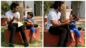 Taimur Ali Khan playing guitar at Pataudi Palace is the cutest thing on internet. Watch video