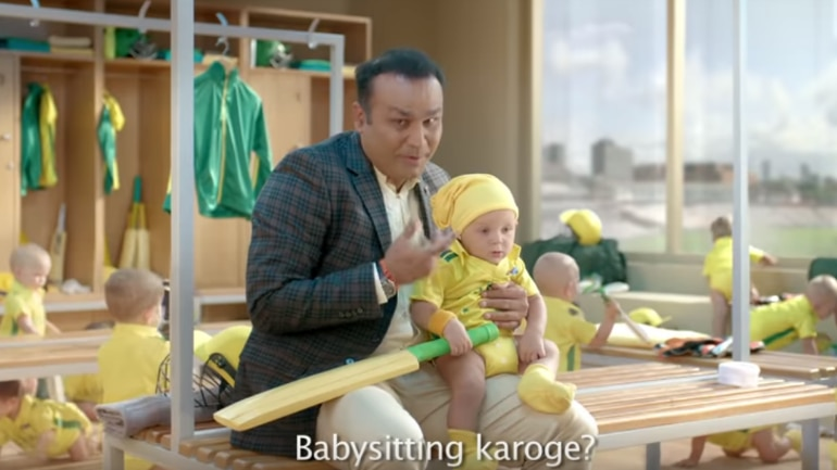 India vs Australia: Rishabh Pant, it seems, is impressed with Virender Sehwag's babysitting act in the television commercial (Screengrab from Star Sports YouTube)