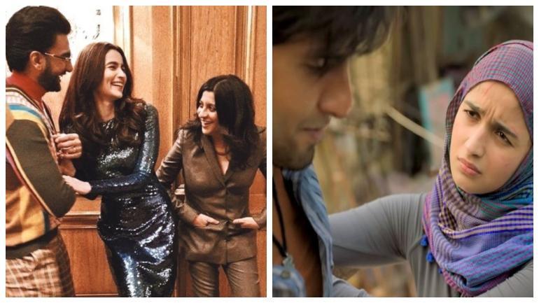 Zoya Akhtar with Ranveer and Alia