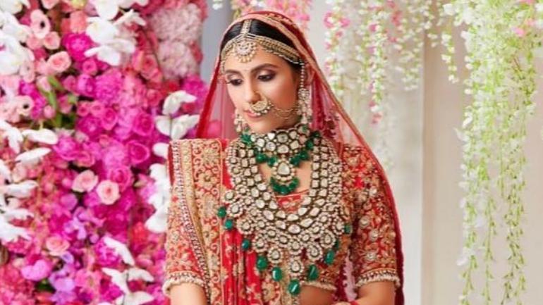 Shloka Mehta on her wedding day