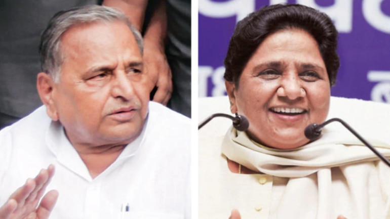 Mulayam Singh Yadav (Left) and Mayawati (Right)