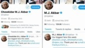 #MeToo accused MJ Akbar removes chowkidar from Twitter name after trolling, adds it back