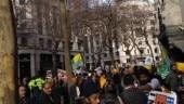 Pro-Khalistani, pro-Modi demonstrators clash outside Indian mission in London