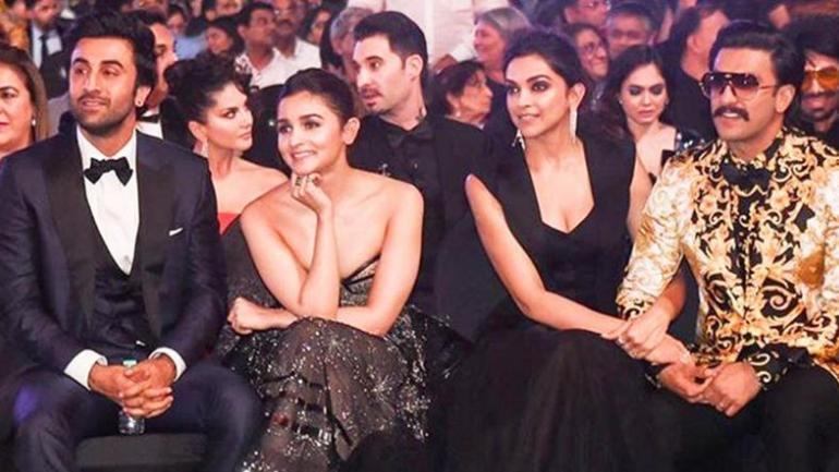 Deepika Padukone and Ranveer Singh with Ranbir Kapoor and ...