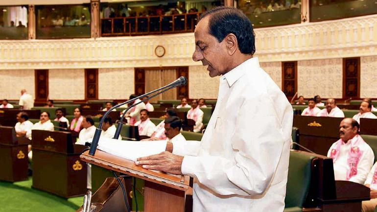 Keeping count KCR presents a vote-on account in the assembly