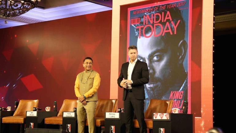 Sunil Gavaskar, Michael Clarke, Matthew Hayden and MSK Prasad spoke at the India Today Conclave 2019 (India Today Photo)