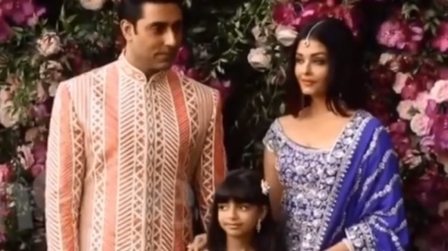 Aaradhya Bachchan is a pro at eye-rolls. Watch viral video from Ambani wedding