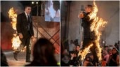 Akshay Kumar announces his digital debut with a fiery stunt. See pics