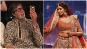 Amitabh Bachchan whistles, asks photog to move so he can record Shweta's rampwalk. Viral video