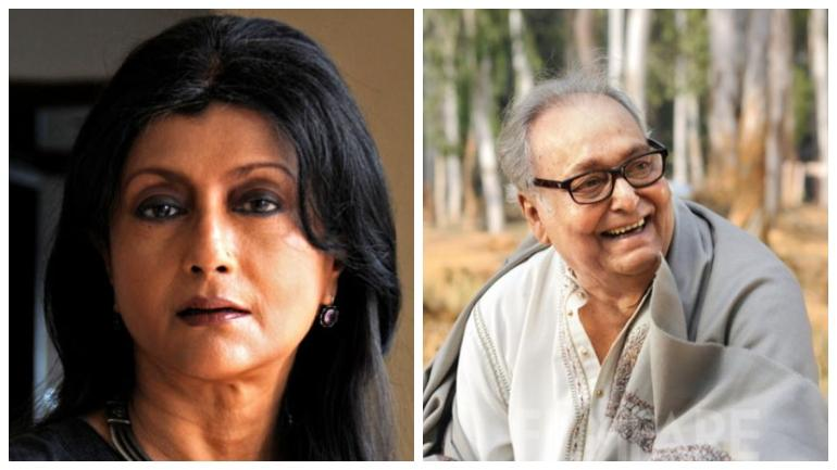 Aparna Sen and Soumitra Chatterjee