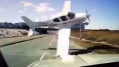 Plane flies SCARILY close to traffic, injures 2 people. Watch heart-stopping viral video