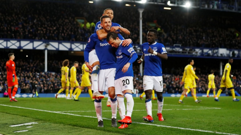 Richarlison and midfielder Gylfi Sigurdsson found the back of the net in Everton's 2-0 win on Sunday (Reuters Photo)