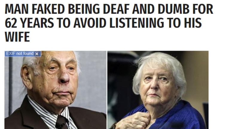Fact Check: Wife divorced husband for faking as deaf and dumb is a