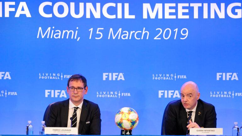 Gianni Infantino said FIFA had made the decision at its council meeting on Friday (AP Photo)