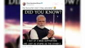 Congress social media head tweets meme calling PM Modi's supporters stupid