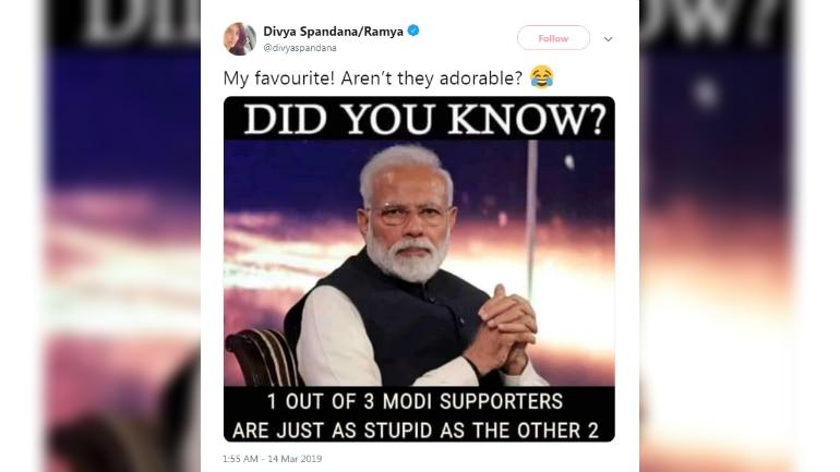 Congress Social Media Head Tweets Meme Calling Pm Modi S