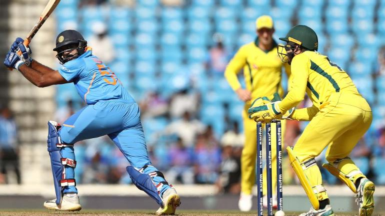 Vijay Shankar managed his highest individual score in ODI cricket during the 2nd match vs Australia (BCCI Photo)