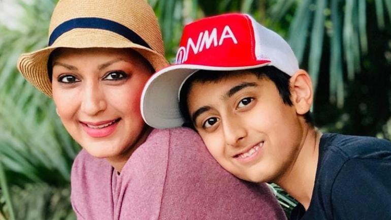 Sonali Bendre with her son Ranveer