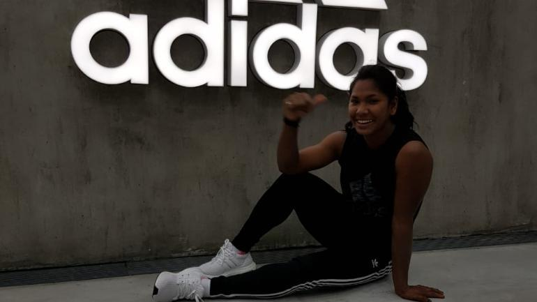 Swapna Barman said she had already started training in her new customised shoes