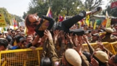 See Tibetan girl's amazing protest leap outside Chinese embassy in New Delhi