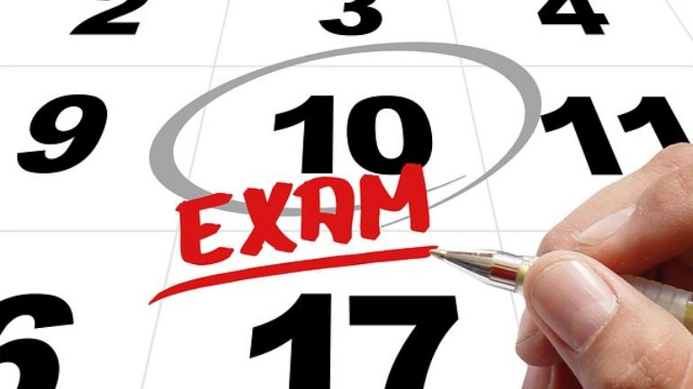The exams will conclude on June 23, 2019.