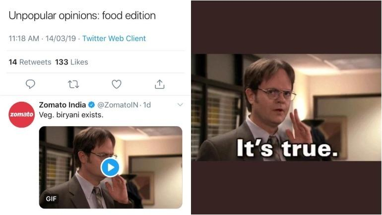 Zomato and Shah Rukh Khan are the stars of unpopular opinion memes Photo: Twitter