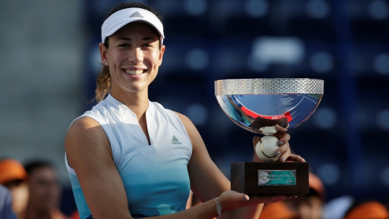Image result for Grabiñe Muguruza trophy