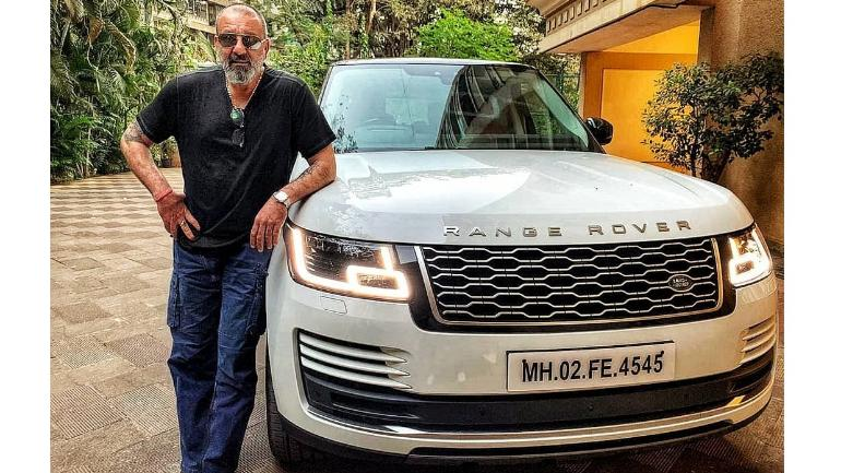 83ac479a9 Bollywood superstar Sanjay Dutt with his Land Rover Range Rover.